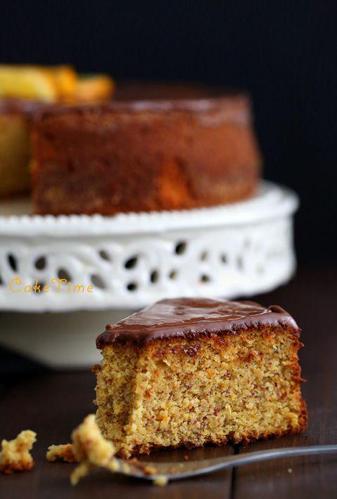 migdałowe ciasto z gotowanymi pomaranczami/ hiszpanskie ciasto pomaranczowe