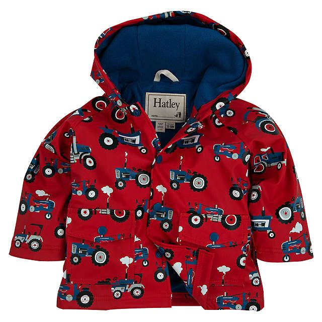 BuyHatley Baby Farm Tractor Raincoat, Red, 1 years Online at johnlewis.com