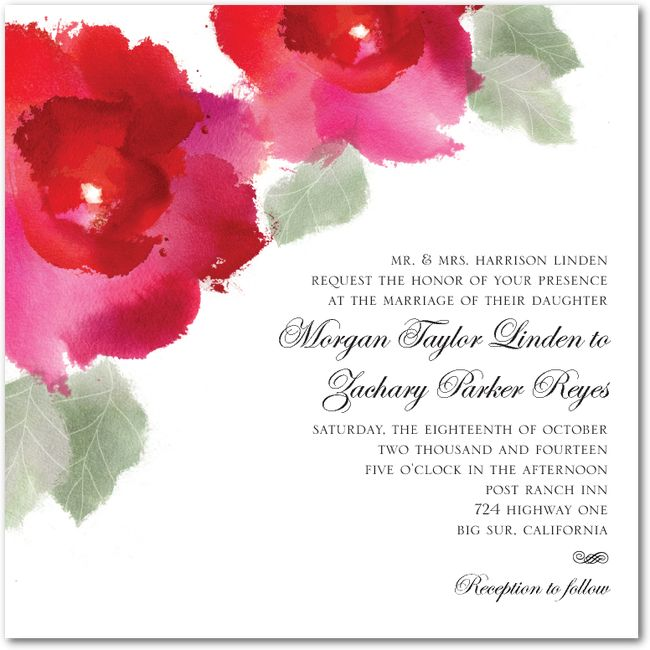 3409 best wedding invitations images on pinterest wedding watercolor roses wedding paper divas more color options available stopboris Images