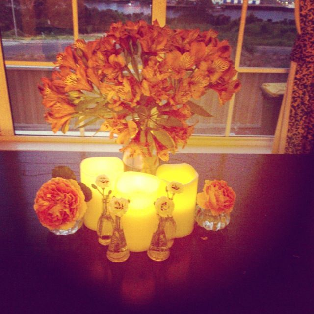 Our artificial candles in action, we have numerous sizes available
