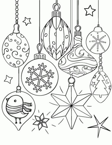 12 Desenhos de Natal para colorir