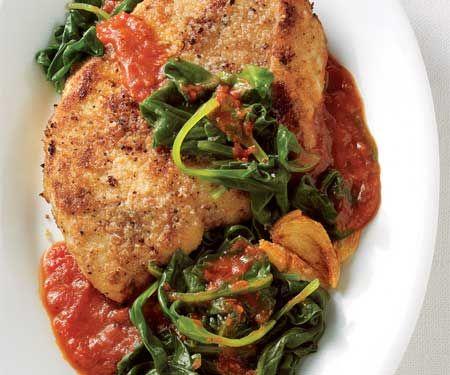 Chicken spinach parmesan Low-Fat Chicken Recipes | Women's Health Magazine