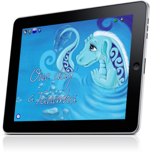 In this book a Taniwha befriends a little boy and invites him for a swim in the deep blue sea.