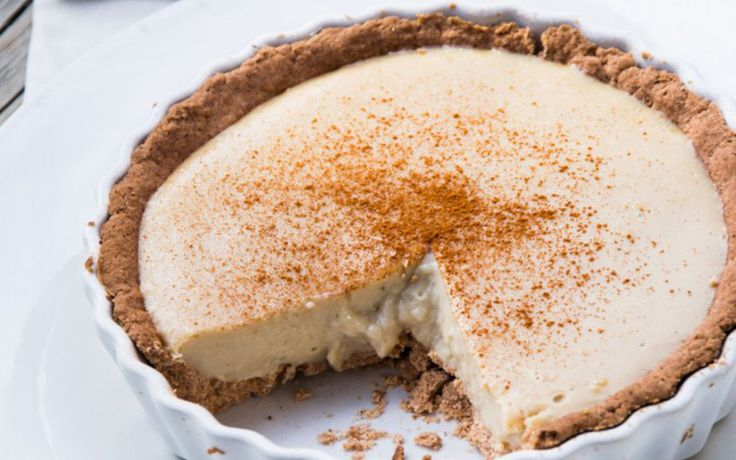 This milk tart is a traditional South African comfort food and is usually served chilled as a dessert or afternoon tea treat.