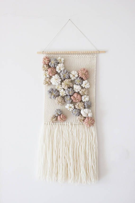 Woven tapestry wall hanging  Wall hanging weaving  Nursery