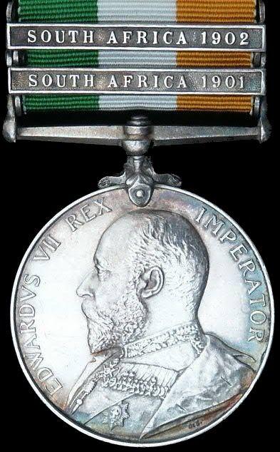 The King's South Africa Medal 1901 -02 Boer War https://grahamwatkinsauthor.wordpress.com/2015/03/13/a-white-mans-war-coming-soon/