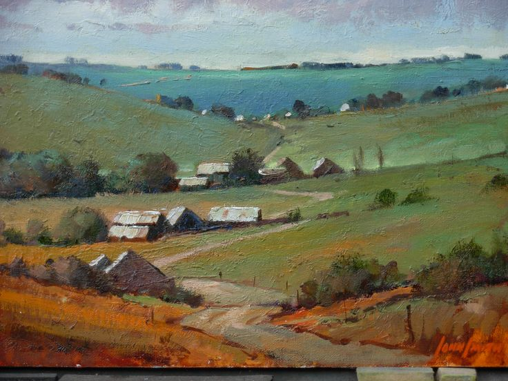 'Dwellings' KZN Midlands South Africa - oil by John Smith