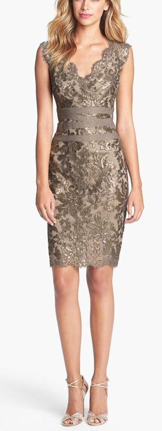 I have this dress and LOVE IT!!!  Embellished sheath dress by Tadashi Shoji ://rstyle.me/n/vgk5nn2bn