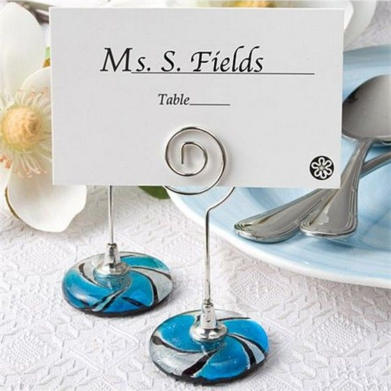 murano glass collection place card holders