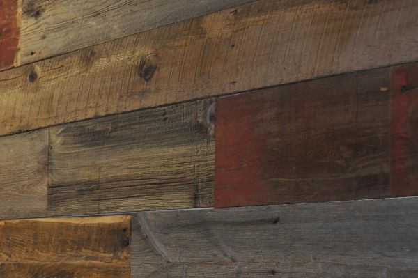 Reclaimed Wood Barn Siding Accent Wall Mixed Colors