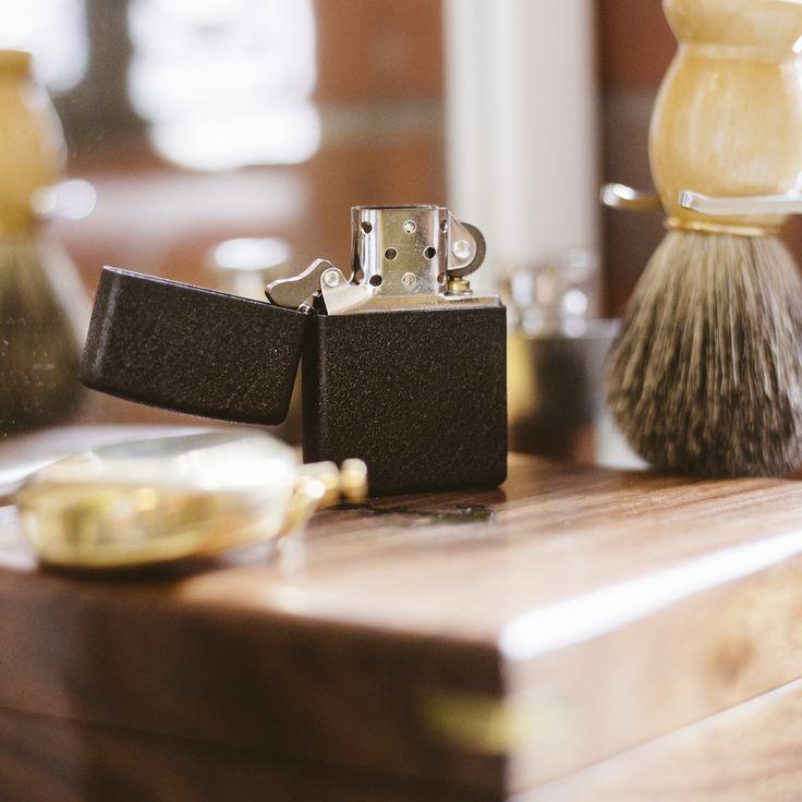 Classic Black Crackle Zippo Lighter