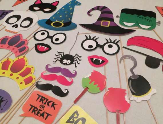 PDF Halloween Photo Booth Props Printable DIY by chelawilliams
