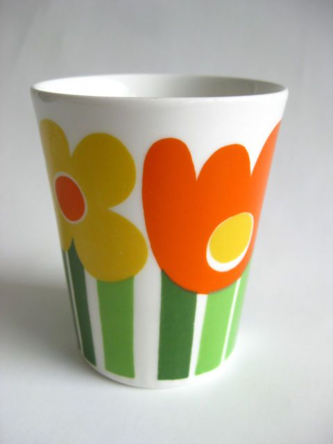 Vintage Figgjo Flint Norway Kirsten Dekor 'Annemarie' Drinking Cup 1960s