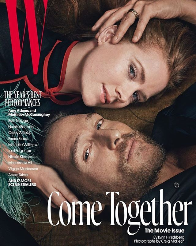 Мэттью МакКонахи и Эми Адамс на обложке специального выпуска W Magazine, посвященного лучшим актерам года #КПлюбуется