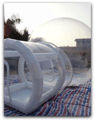bulle transparente gonflable sur mesure