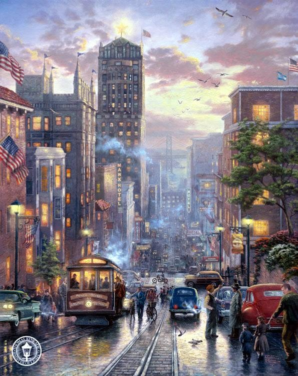 San Francisco Powell Street by Thomas Kinkade
