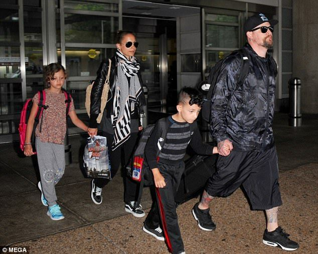 Family life! Nicole Richie stepped out with husband Joel Madden and their two children, Sparrow, 7 and Harlow, 9