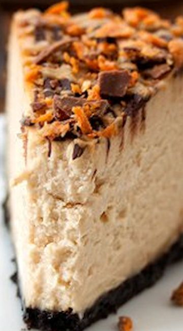"Peanut Butter Cheesecake- I didn't have a spring form pan and just used a regular 9"" pie pan. Then this recipe makes two pies! Review: let it set up and chill. tastes sooooo much better if it is chilled!!"