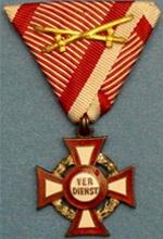 Militärverdienstkreuz - was a decoration of the Empire of Austria and, after the establishment of the Dual Monarchy in 1867, the Empire of Austria-Hungary