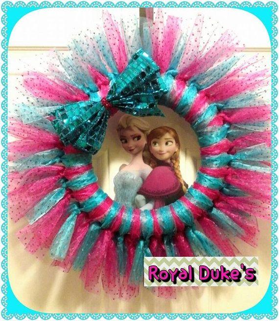 Disney Frozen Wreath, Frozen Merchandise, Frozen Tulle Wreath on Etsy, $35.00