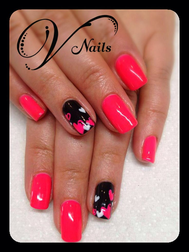 16 best gelish nail art designs freehand by v nails images on valetines nail art gelish freehand v nails prinsesfo Images