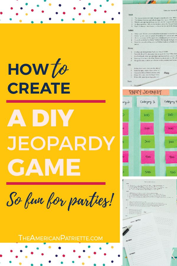 Category Ideas For Diy Trivia Or Jeopardy Games With Free Game