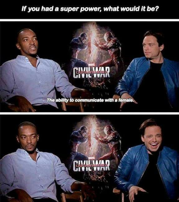 Captain America : Civil War interview - Anthony Mackie, Sebastian Stan #funny