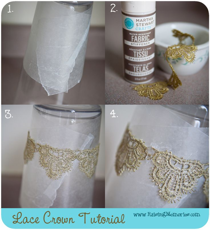 DIY lace crown. Cute little favor for young girls attending your wedding.