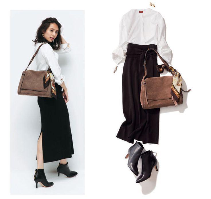 黒スカートのコーディネートを最新の秋冬スタイルから春夏のおすすめまでご紹介。ロング丈やミモレ丈のフレアスカートやタイトスカートはもちろん、ブラウスやシャツなどのトップスと合わせたコーディネートをピックアップしました!