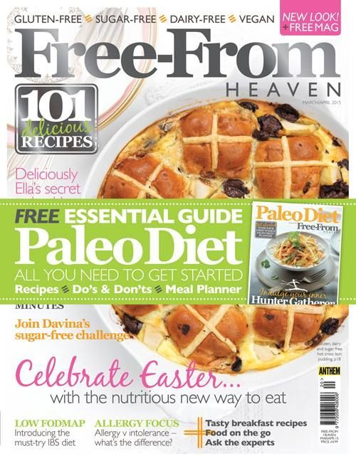 The latest and new look issue of Free-From Heaven is out in the shops today, complete with a free 24-page #Paleo Supplement.  You can pick up your copy at Waitrose, Asda, Tesco, Sainsbury's, WHSmith, Lakeland, Marks and Spencers, Hobbycraft, Costco, Wholefoods and Budgens, and of course online.  Visit www.freefromheaven.com for more information. #freefrom #glutenfree #vegan #magazine #sugar-free #recipes
