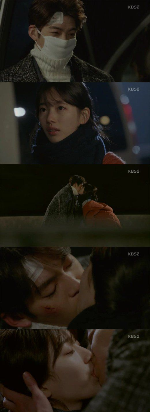 "[Spoiler] ""Uncontrollably Fond"" Suzy kisses Kim Woo-bin and he kisses back"