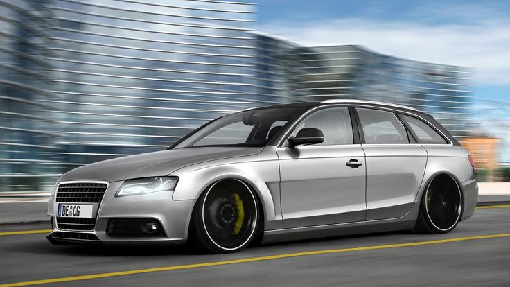 audi a4 avant tuning low suspension on hd wallpapers from. Black Bedroom Furniture Sets. Home Design Ideas