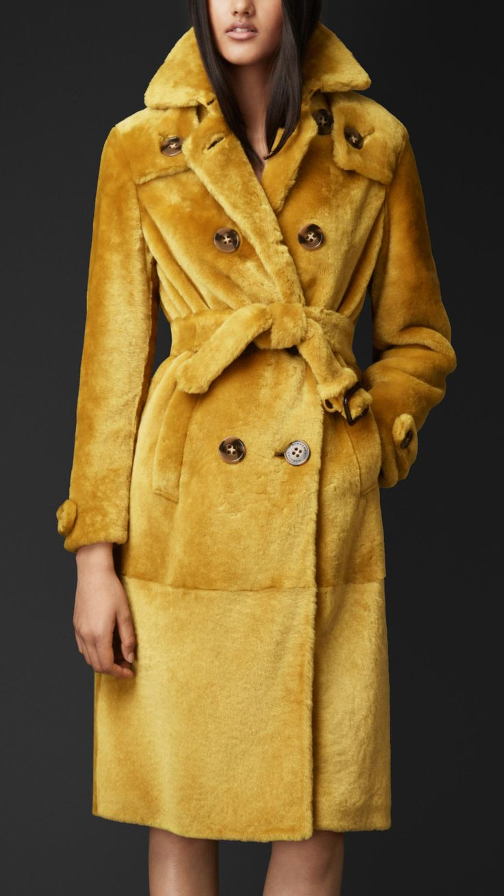 Shearling Trench Coat | Burberry If only I had the money ......