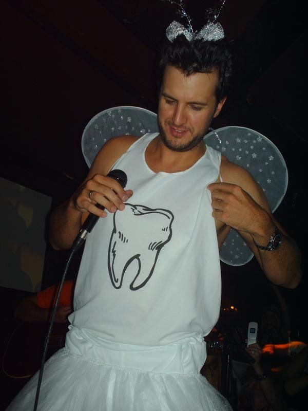 Luke Bryan aka 'The Tooth fairy....excuse me while I pull my teeth out.....