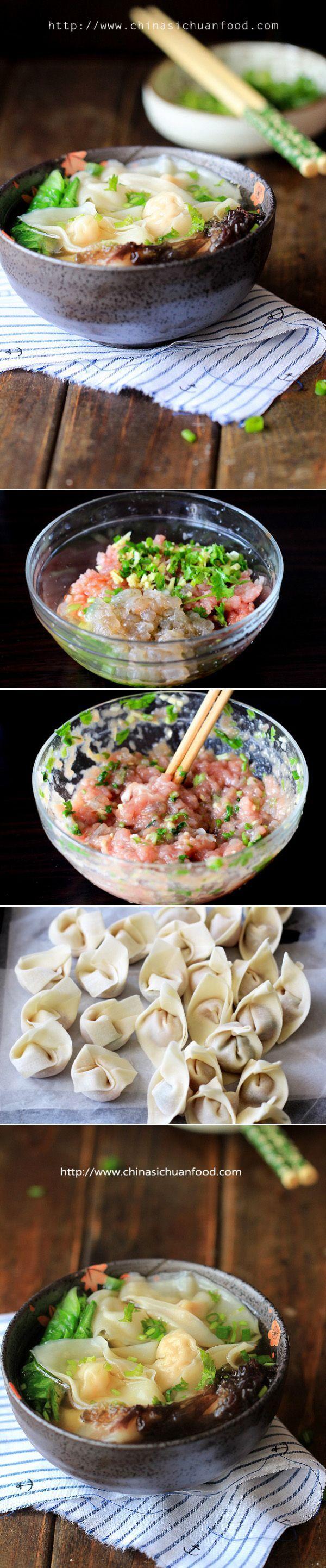 Shrimp Wonton Soup by chinasichuanfood #Soup #Wonton #Shrimp