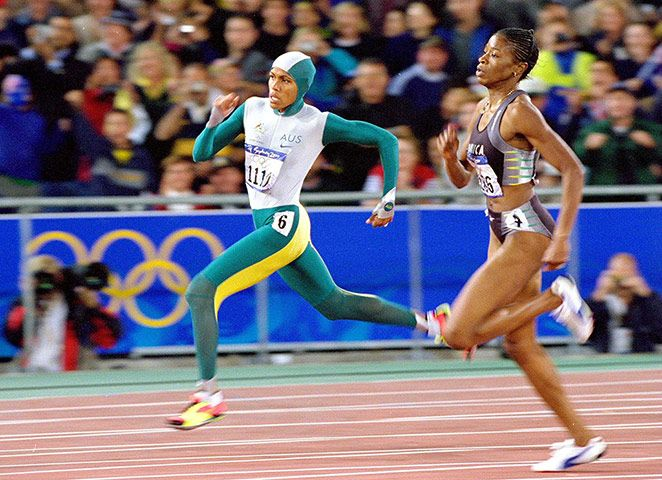 50 stunning Olympic moments: Cathy Freeman's gold – in pictures We look back at the moment Cathy Freeman united Australians in joy at the 2000 Olympics in Sydney | Freeman ghosted past her rivals on the bend.