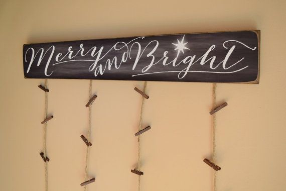 Merry & Bright Merry Mail Christmas Card Holder by BornOnBonn