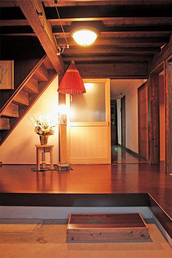 old traditional japanese house reformed, entrance