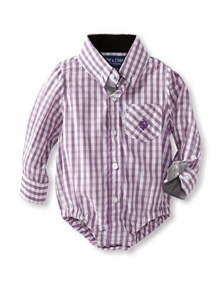 61% OFF Andy & Evan Baby Classic Check Shirtzie (Medium Purple)
