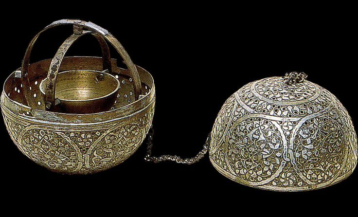 Perfumes-burning  Brass and silver  XIVth Century