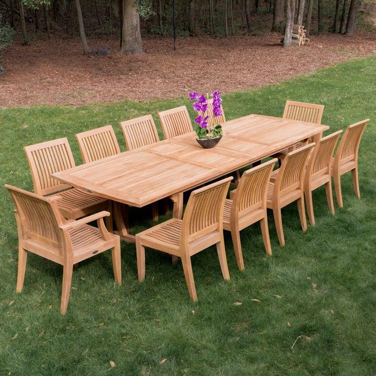 Laguna Contemporary Teak Dining Side Chair - Westminster Teak Outdoor Furniture