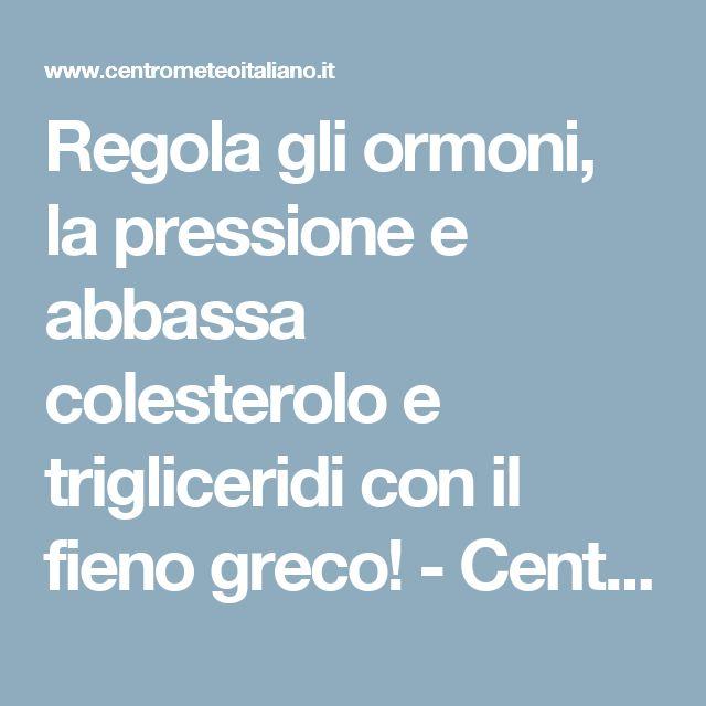 Regola gli ormoni, la pressione e abbassa colesterolo e trigliceridi con il fieno greco! - Centro Meteo Italiano