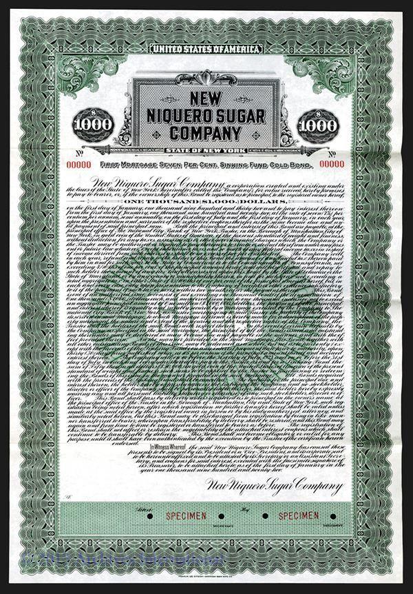 Niquero Sugar Co. 1922. - Archives International Auctions