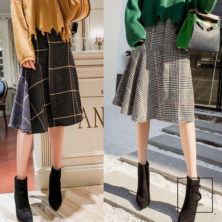 2色・チェック柄・フレアラインミディアムスカート・フレアスカート・チェックスカート・ひざ丈・Aラインスカート・ボトムス・S/Mサイズ・大人可愛い・大人カジュアル・2017冬新作・冬物・デイリー・お出かけ【171031】#JSファッション #ボトムス #冬新作 #スカート #チェック柄スカート #フレアライン #フレアスカート #ミディアム丈 #ひざ丈 #ふんわり #ブラック #ダークグレー #Sサイズ #Mサイズ #秋冬 #魅了的 #大人可愛い #トレンド #フリーサイズ #大人コーデ #エレガント #愛されコーデ #かわいい #個性的 #デート#デイリー #お出かけ #旅行 #おしゃれ #海外 #同窓会 #通販