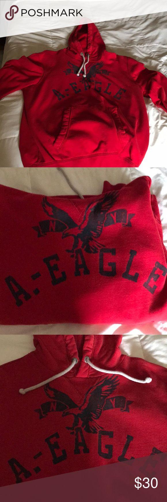 Red American Eagle Sweatshirt Red American Eagle sweatshirt, Youth Large (fits like a regular medium), very comfortable American Eagle Outfitters Shirts & Tops Sweatshirts & Hoodies