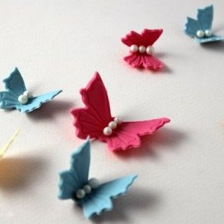 How to make butterfly from fondant or gum paste