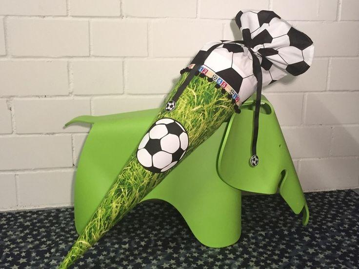 """Schultüte """"Fußball"""" mit Name und Datum möglich  von HandmadeByAdrianna auf DaWanda.com"""