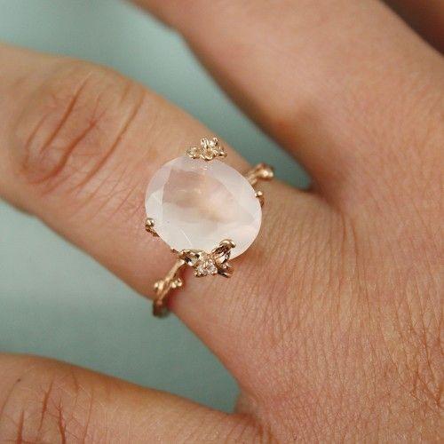 Rose Quartz Wedding Rings 013 - Rose Quartz Wedding Rings