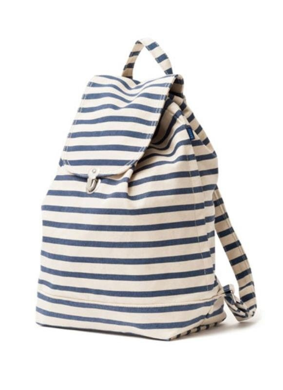 Baggu Striped Backpack // at Darling Clementine