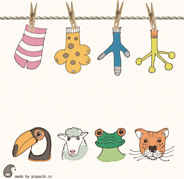color matching animal socks